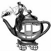 lady on teapot
